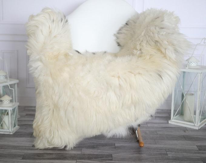 Sheepskin Rug   Real Sheepskin Rug   Shaggy Rug   Chair Cover   Sheepskin Throw   Beige Black Sheepskin   Home Decor   #HERMAJ72