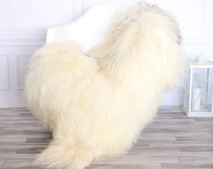Icelandic Sheepskin | Real Sheepskin Rug | CHRISTMAS DECOR | Sheepskin Rug Ivory Gray | Fur Rug | Homedecor #1isl19