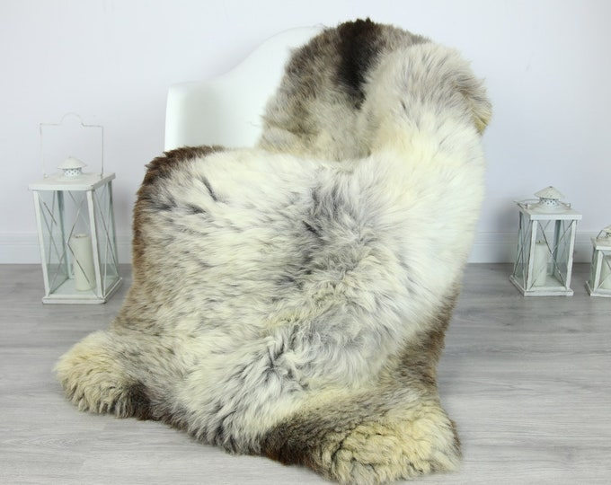 Sheepskin Rug | Huge Real Sheepskin Rug | Shaggy Rug | Chair Cover | XXL Sheepskin Throw | Gray Brown Sheepskin | Home Decor | #PRYMHER13