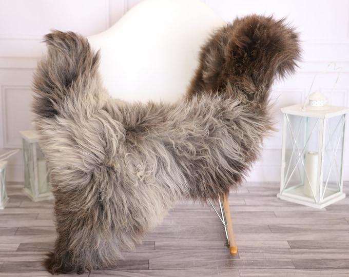 Sheepskin Rug | Real Sheepskin Rug | Shaggy Rug | Scandinavian Rug | | SCANDINAVIAN DECOR | Gray Brown Sheepskin #OLHER16