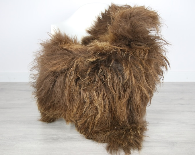 Icelandic Sheepskin | Real Sheepskin Rug | | Large Sheepskin Rug Brown | Fur Rug | Homedecor | Sheepskin Throw | Long fur #colisl27