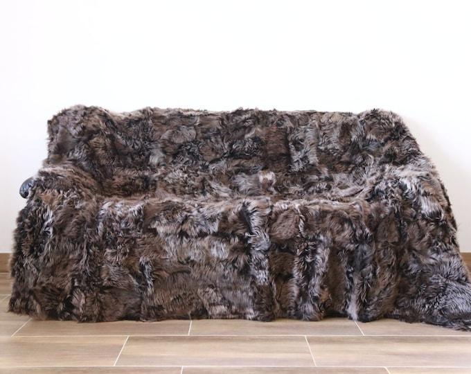 Luxurious Toscana Sheepskin Real Fur Throw | Real Fur Blanket | Sheepskin throw |