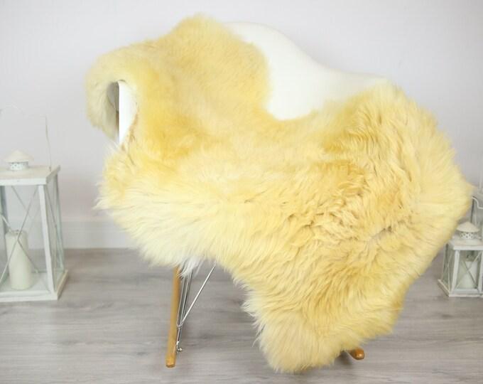 Sheepskin Rug | Real Sheepskin Rug | Shaggy Rug | Chair Cover | Sheepskin Throw | Beige  Sheepskin | Home Decor | #JAC2