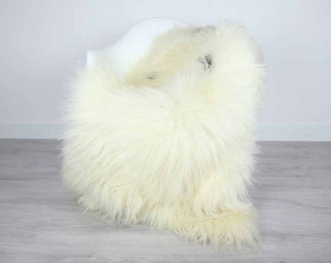 Icelandic Sheepskin | Real Sheepskin Rug | | Large Sheepskin Rug Beige | Fur Rug | Homedecor | Sheepskin Throw | Long fur #colisl29