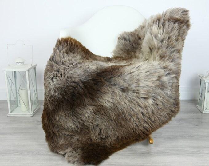 Sheepskin Rug | Huge Real Sheepskin Rug | Shaggy Rug | Chair Cover | XXL Sheepskin Throw | Gray Brown Sheepskin | Home Decor | #PRYMHER15