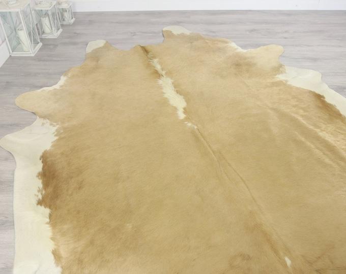 Premium Quality Giant XXXL Cowhide | Real Cowhide Rug | Sand Cowhide | #COW2