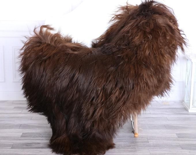 Icelandic Sheepskin | Real Sheepskin Rug | CHRISTMAS DECOR | Sheepskin Rug Brown | Fur Rug | Homedecor #1isl15