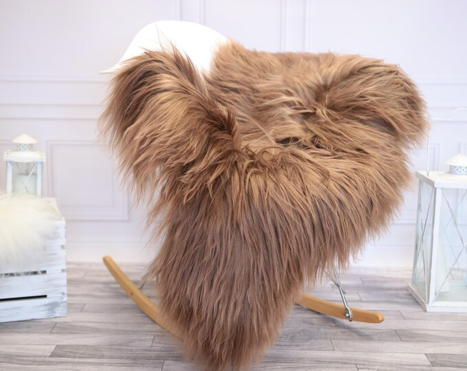 Icelandic Sheepskin | Real Sheepskin Rug | Brown Pink Sheepskin Rug | Fur Rug |  Home decor #JANISL3