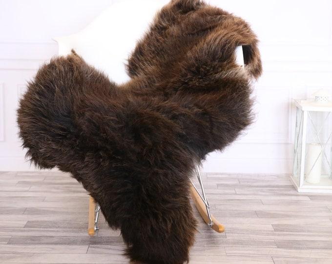 Sheepskin Rug | Real Sheepskin Rug | Shaggy Rug | Chair Cover | Sheepskin Throw | Brown White | CHRISTMAS DECOR | #LISHER15