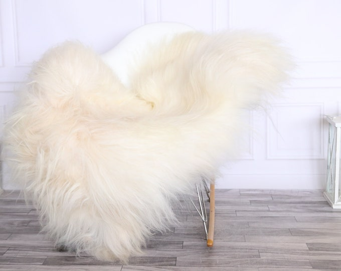 Icelandic Sheepskin | Real Sheepskin Rug | CHRISTMAS DECOR | Sheepskin Rug Ivory White | Fur Rug | Homedecor #LISISL7