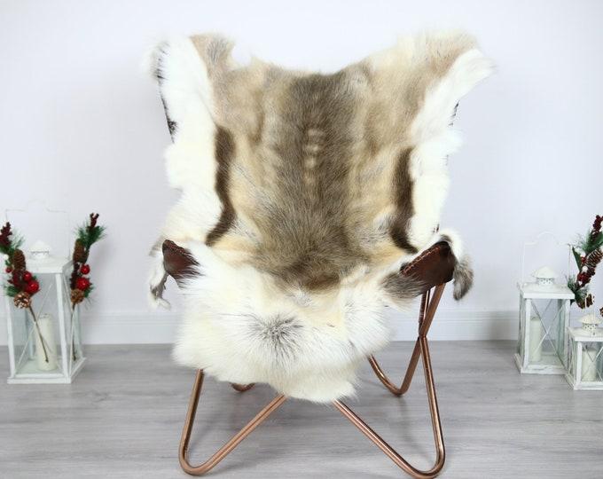 Reindeer Hide | Reindeer Rug | Reindeer Skin | Throw  - Scandinavian Style #ERE10 130x100 | Christmas Decor |
