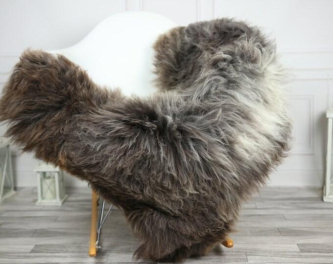 Sheepskin Rug   Real Sheepskin Rug   Shaggy Rug   Chair Cover   Sheepskin Throw   Gray Brown Sheepskin   CHRISTMAS DECOR   #2HER8