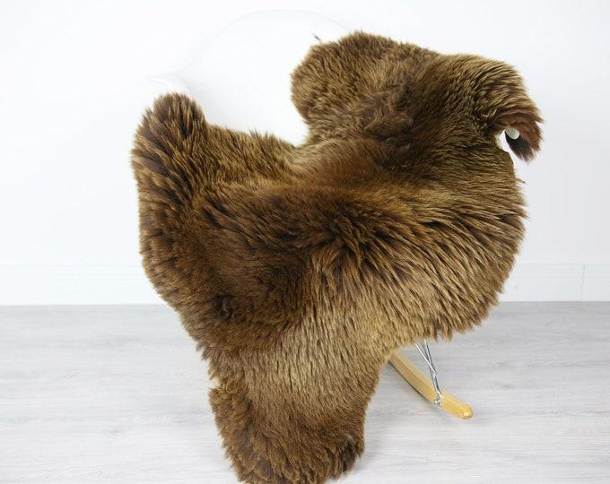 Sheepskin Rug | Real Sheepskin Rug | Shaggy Rug | Scandinavian Rug | Sheepskin Throw Brown Sheepskin | SCANDINAVIAN DECOR | #3HER12