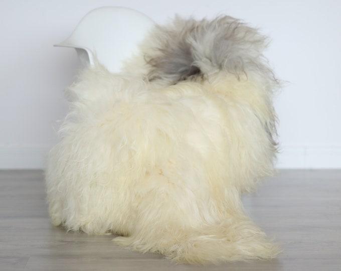 Real Icelandic Sheepskin Rug Scandinavian Decor Sofa Sheepskin throw Chair Cover Natural Sheep Skin Rugs Ivory Blanket Fur Rug #4isl16