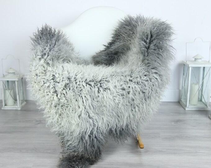 Genuine Rare Gotland Sheepskin Rug - Curly Fur Rug - Natural Sheepskin - Gray Sheepskin #GOTKW14