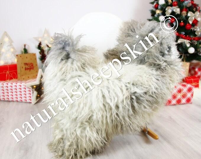 Genuine Rare Gotland Sheepskin Rug - Curly Fur Rug - Natural Sheepskin - Gray  Sheepskin #CHRISTGOT7