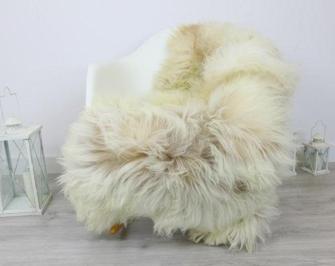 Genuine Natural rare Icelandic Sheepskin Rug, Pelt, soft long fur - ivory Scandinavian Decor Sofa Sheepskin throw Chair Cover Natural