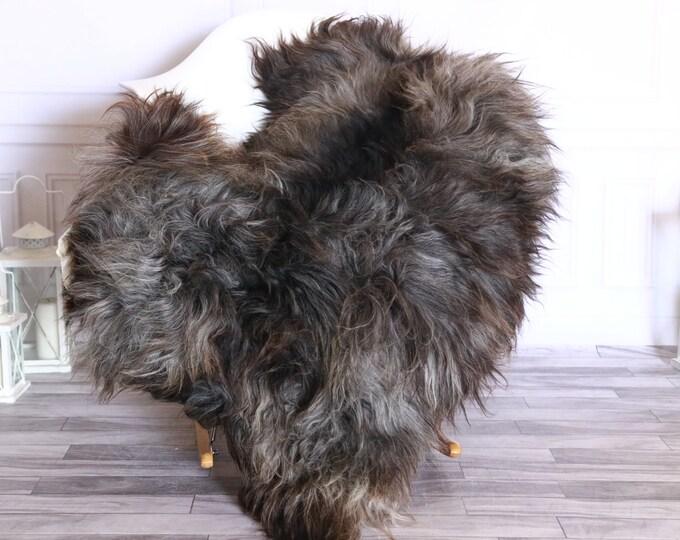 Icelandic Sheepskin | Real Sheepskin Rug | Sheepskin Rug Gray Brown | Fur Rug | Homedecor #WRZISL25