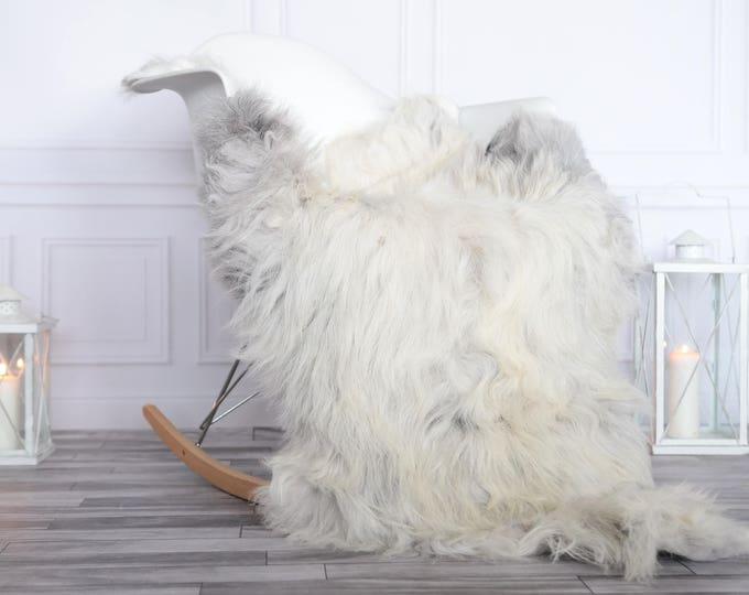 Organic Sheepskin Rug, Real Sheepskin Rug, Gute Sheepskin, Christmas Home Decor, Grey Ivory Sheepskin Rug #OCTGUTE18
