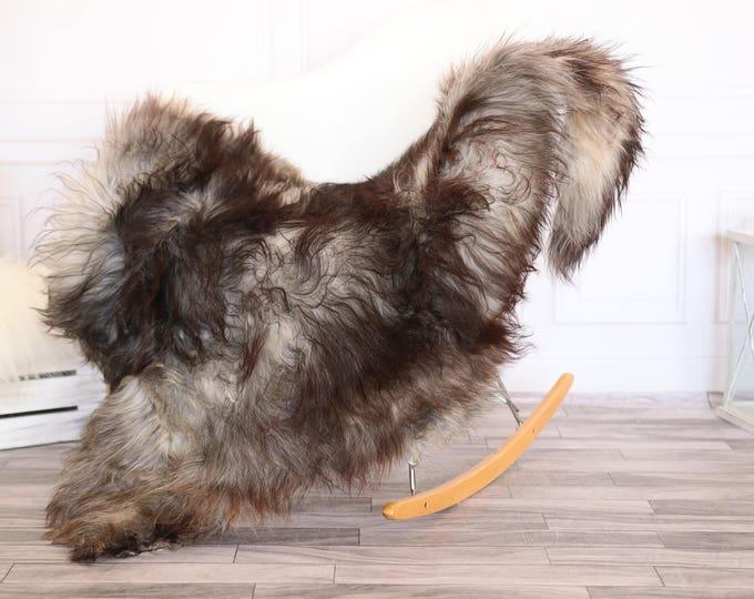 Icelandic Sheepskin | Real Sheepskin Rug | Gray Brown Sheepskin Rug | Fur Rug |Scandinavian dedcor | #JANISL74
