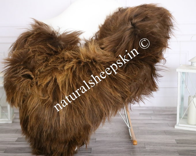 Icelandic Sheepskin | Real Sheepskin Rug | Sheepskin Rug Brown | Fur Rug | Homedecor #MAYISL16