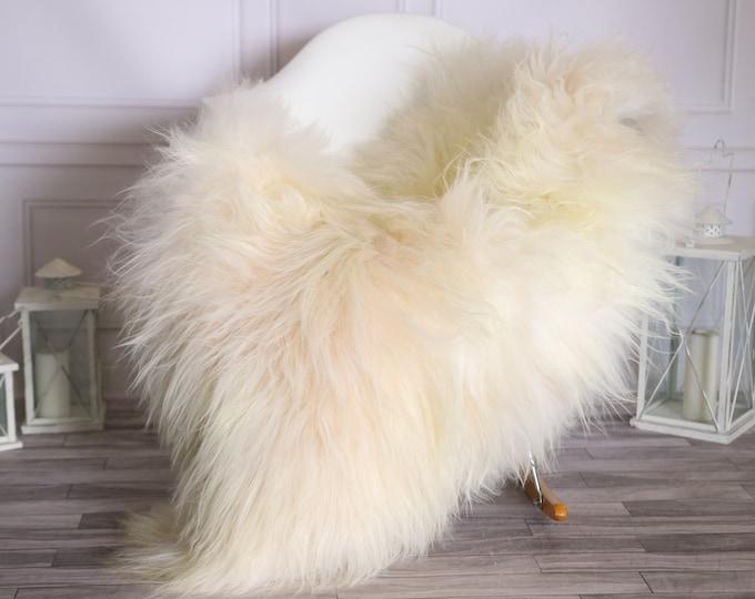 Icelandic Sheepskin   Real Sheepskin Rug    Super Large Sheepskin Rug Ivory   Fur Rug   Homedecor #MIHISL27