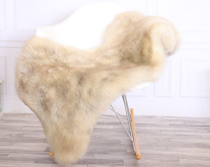 Sheepskin Rug | Real Sheepskin Rug | Shaggy Rug | Chair Cover | Sheepskin Throw | Brown Beige | CHRISTMAS DECOR | #LISHER24