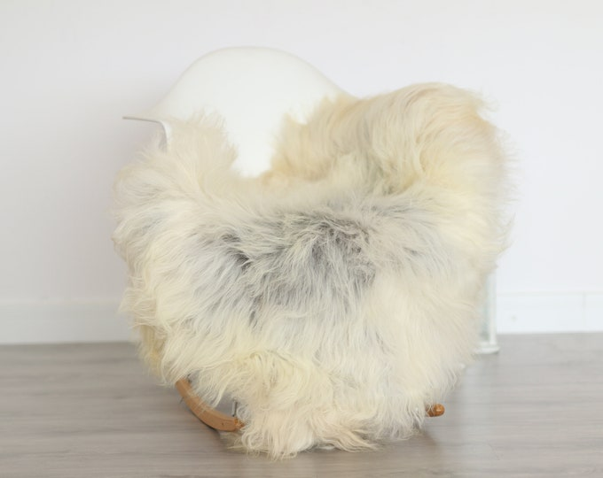 Real Icelandic Sheepskin Rug Scandinavian Decor Sofa Sheepskin throw Chair Cover Natural Sheep Skin Rugs Gray Blanket Fur Rug #4isl9