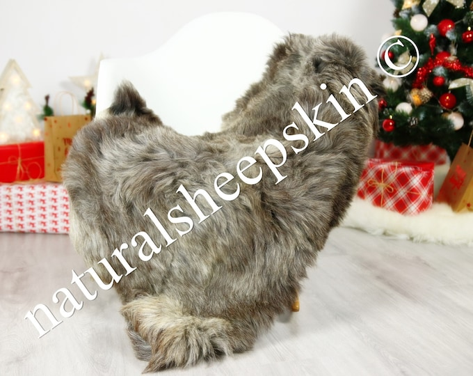 Organic Sheepskin Rug, Real Sheepskin Rug, Gute Sheepskin, Brown Sheepskin Rug Christmas Home #GUTCHRIS3