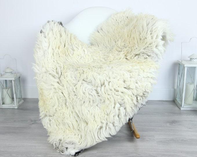 Organic Curly Sheepskin Rug, Real Sheepskin Rug, Gute Sheepskin, Gray Baige Sheepskin Rug #GOTKW6