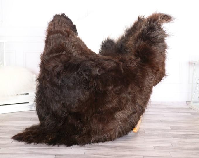 Icelandic Sheepskin | Real Sheepskin Rug | Chocolate Brown Sheepskin Rug | Fur Rug | Scandinavian dedcor | #JANISL94