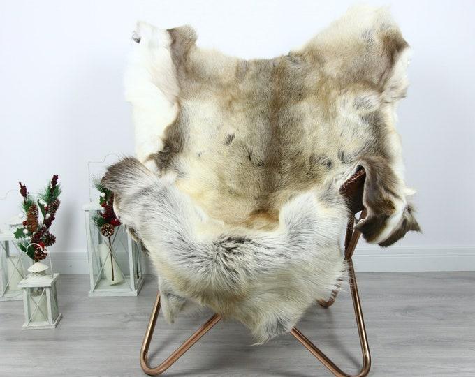 Reindeer Hide | Reindeer Rug | Reindeer Skin | Throw  - Scandinavian Style #GRE7 140x120 | Christmas Decor |