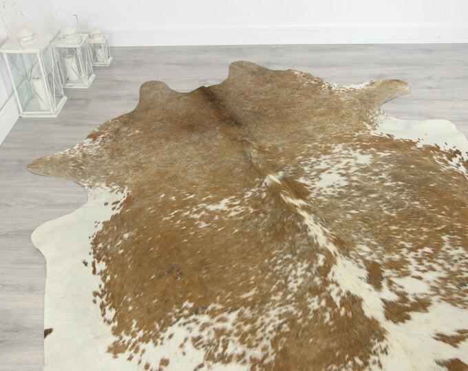 Premium Quality Giant XXXL Cowhide | Real Cowhide Rug | Sand White Cowhide | #COW6