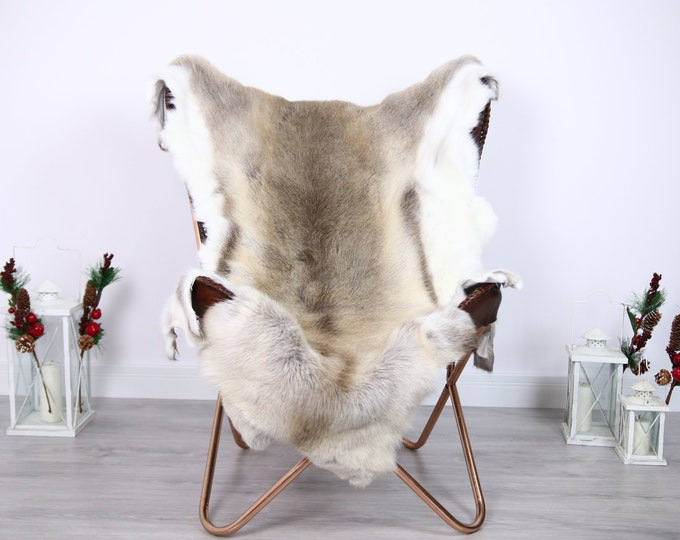 Reindeer Hide | Reindeer Rug | Reindeer Skin | Throw  - Scandinavian Style #ERE2 135x110 | Christmas Decor |