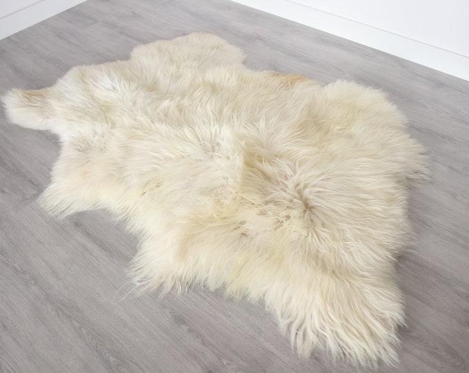Real Icelandic Sheepskin Throw Scandinavian Decor Sofa Sheepskin throw Chair Cover Natural sheep skin rugs blanket fur Triple rug #Bezszy1