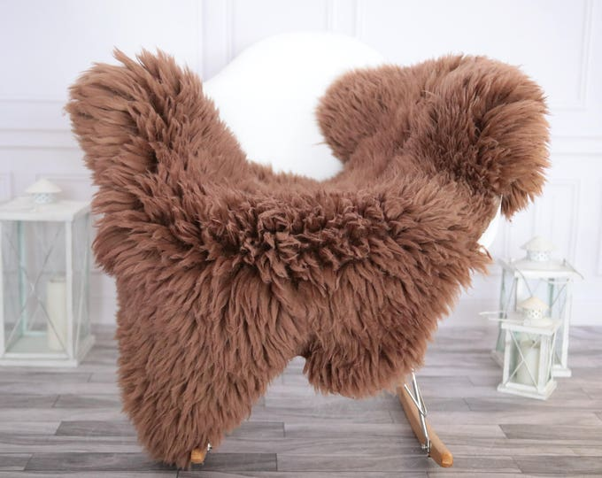 Sheepskin Rug | Real Sheepskin Rug | Shaggy Rug | Chair Cover | Sheepskin Throw | Dirty Rose Sheepskin | CHRISTMAS DECOR | #DECHER1
