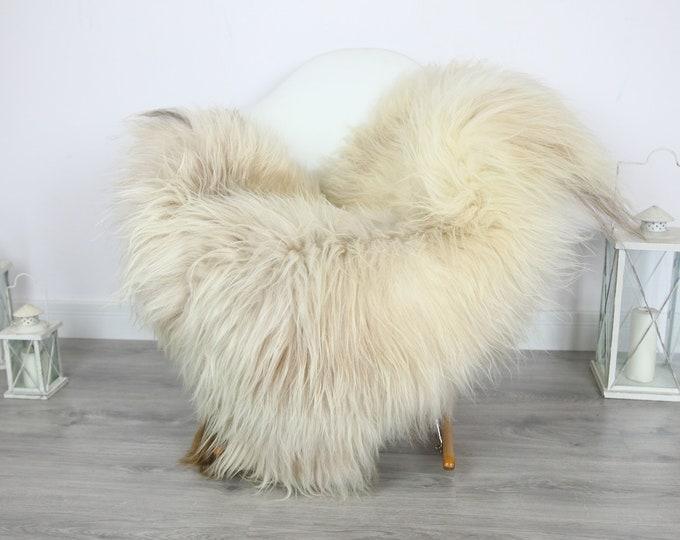 Icelandic Sheepskin | Real Sheepskin Rug | | Large Sheepskin Rug Ivory | Fur Rug | Homedecor | Sheepskin Throw | Long fur #colisl6