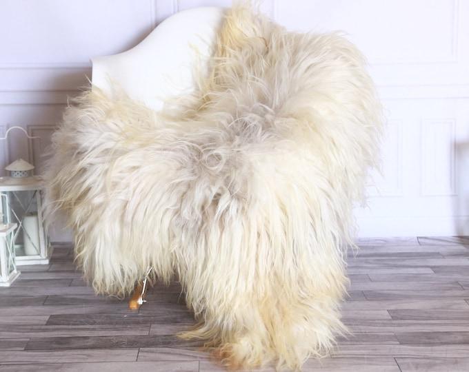 Icelandic Sheepskin | Real Sheepskin Rug | Sheepskin Rug Beige Brown | Fur Rug | Homedecor #WRZISL23
