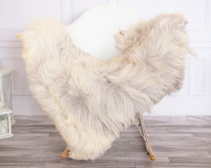 Organic Sheepskin Rug, Real Sheepskin Rug, Gute Sheepskin,Ivory Gray Sheepskin Rug #GUTEFEB15