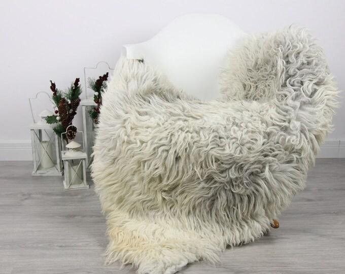 Organic Sheepskin Rug, Real Sheepskin Rug, Curly Sheepskin, Gray Beige Sheepskin Rug Christmas Home #CURLGUT3