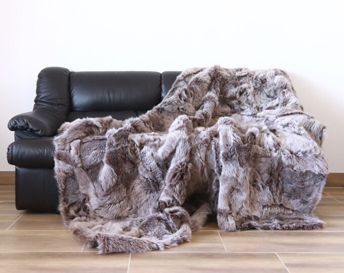 Luxurious Toscana Sheepskin Real Fur Throw | Real Fur Blanket | Sheepskin throw | Heather Throw