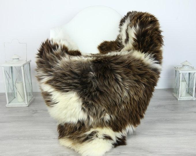 Sheepskin Rug | Huge Real Sheepskin Rug | Shaggy Rug | Chair Cover | XXL Sheepskin Throw | White Brown Sheepskin | Home Decor | #PRYMHER10