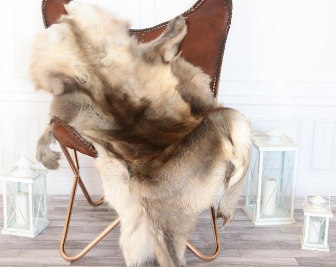 Reindeer Hide   Reindeer Rug   Reindeer Skin   Throw XXL EXTRA Large - Scandinavian Style #16re7