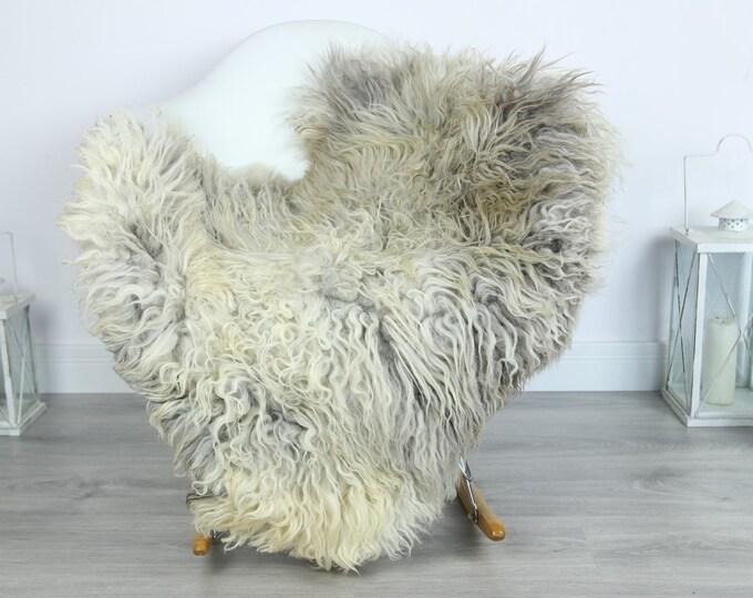 Organic Curly Sheepskin Rug, Real Sheepskin Rug, Gute Sheepskin, Gray Baige Sheepskin Rug #GOTKW7