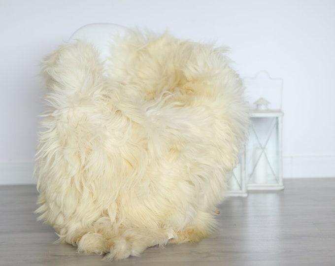 Real Icelandic Sheepskin Rug Scandinavian Decor Sofa Sheepskin throw Chair Cover Natural Sheep Skin Rugs Ivory Blanket Fur Rug #4isl23