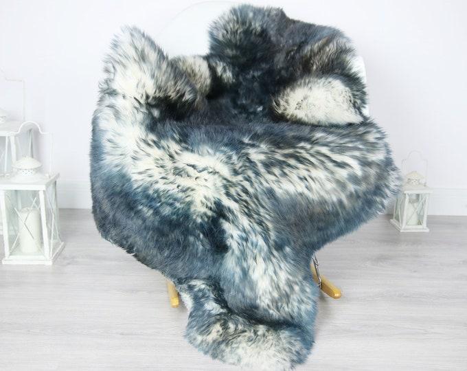 Sheepskin Rug | Real Sheepskin Rug | Shaggy Rug | Scandinavian Rug | Sheepskin Throw Blue Sheepskin | SCANDINAVIAN DECOR | #3HER3