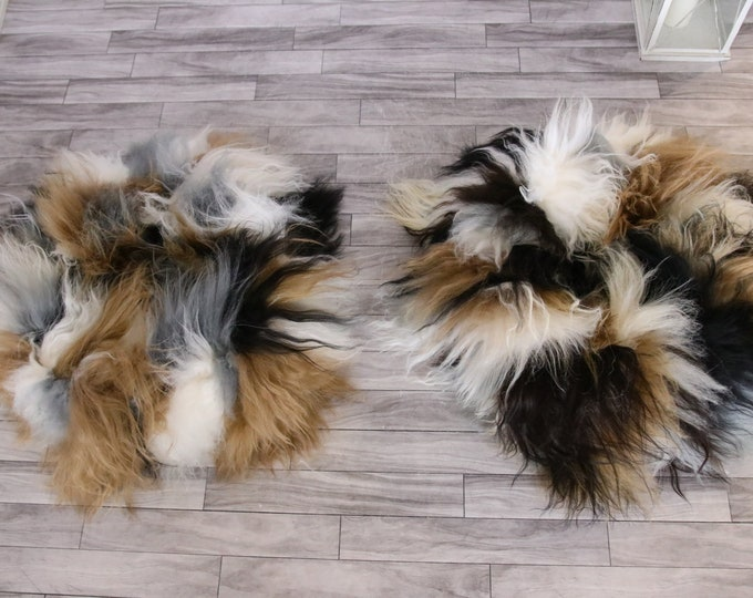Real fur cat dog bed | Icelandic Sheepskin Cat Dog bed | Sheepskin cat dog pouf | Pet Bed Pet House | Fur Pet Bed