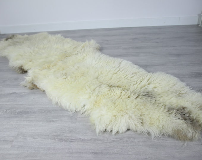 Double Sheepskin Rug | Long rug | Shaggy Rug | Chair Cover | Runner Rug | Beige Rug | Carpet | Beige Sheepskin | Brown Sheepskin LUSZY9
