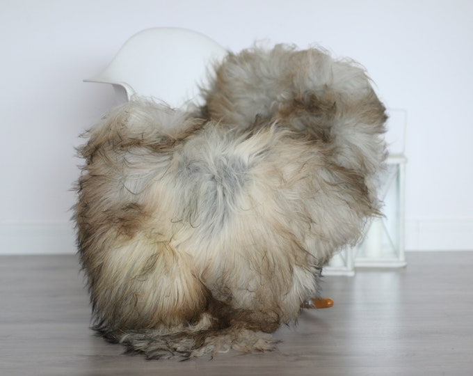 Real Icelandic Sheepskin Rug Scandinavian Decor Sofa Sheepskin throw Chair Cover Natural Sheep Skin Rugs Gray Blanket Fur Rug #4isl22