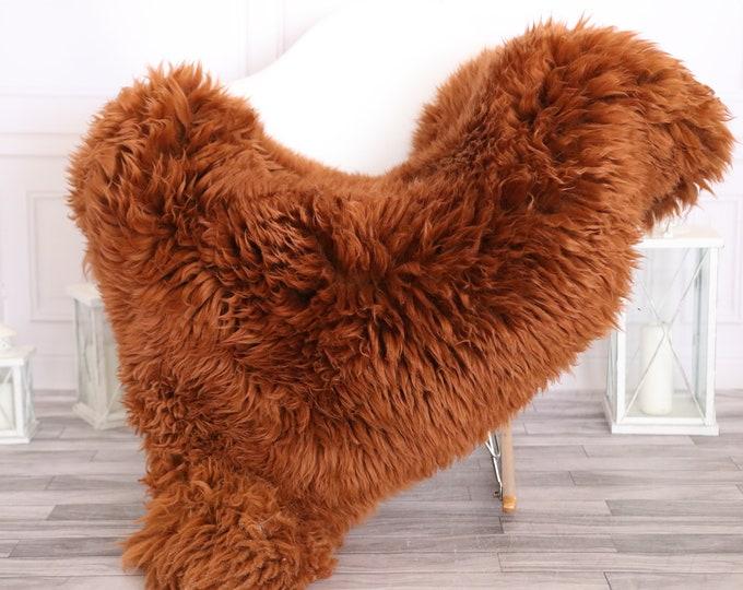 Sheepskin Rug | Real Sheepskin Rug | Shaggy Rug | Scandinavian Rug | | SCANDINAVIAN DECOR | Copper Sheepskin  #MIHER9